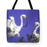 Great Egrets Nesting Tote Bag