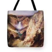 Great Falls Of Yellowstone Tote Bag by Thomas Moran