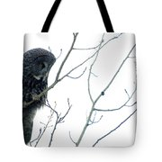 Great Grey Owl On Watch Tote Bag