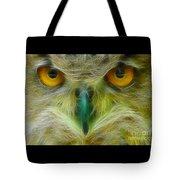 Great Horned Eyes Fractal Tote Bag