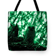 Great Horned Owl And Owlet Tote Bag
