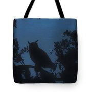 Owl At Night Tote Bag
