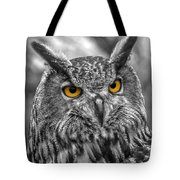 Great Horned Owl V9 Tote Bag
