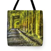 Great Norther Railroad Snow Shed - Electric Neon Tote Bag