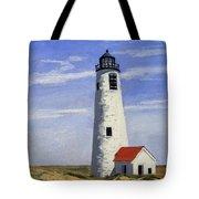 Great Point Lighthouse Nantucket Massachusetts Tote Bag