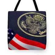 Great Seal Of The United States And American Flag Tote Bag
