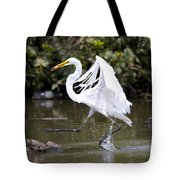 Great White Egret And Turtle Friends1 Tote Bag