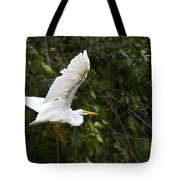 Great White Egret Flying 1 Tote Bag