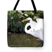 Great White Egret Show Off Tote Bag