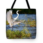 Great White Out Of The Blue Tote Bag