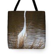 Greater Egret Posturing Tote Bag