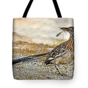 Greater Roadrunner With Nest Material Tote Bag