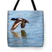 Greater Scaup In Flight Tote Bag