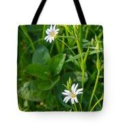 Greater Stitchwort Stellaria Tote Bag