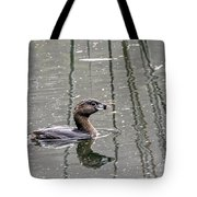Grebe In The Reeds Tote Bag