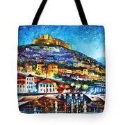 Greece Lesbos Island 2 Tote Bag by Leonid Afremov