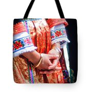 Greek Easter Holiday - Woman In Traditional Dress Tote Bag