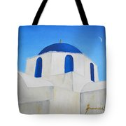 Greek Island Church  Tote Bag