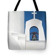 Greek Island Church Tote Bag