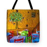Greek Taverna Tote Bag