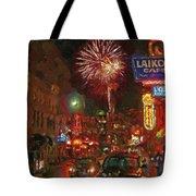 Greektown Night Tote Bag