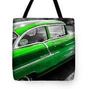 Green 1957 Chevy Tote Bag