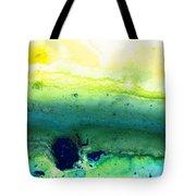 Green Abstract Art - Life Song - By Sharon Cummings Tote Bag