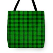Green And Black  Plaid Cloth Background Tote Bag