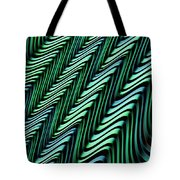 Green And Blue Folds Tote Bag