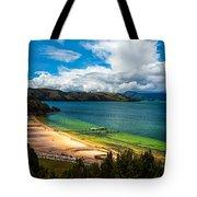 Green And Blue Lake Tote Bag