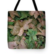 Green And Brown Leaves Tote Bag