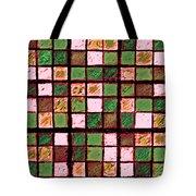 Green And Brown Sudoku Tote Bag