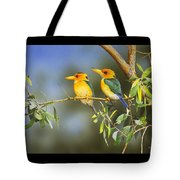 Green And Gold - Yellow-billed Kingfishers Tote Bag
