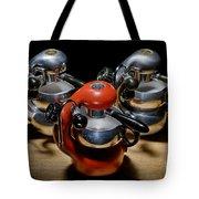 Green And Orange Atomic 1 Tote Bag