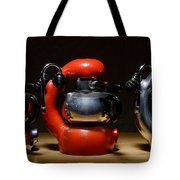Green And Orange Atomic 3 Tote Bag