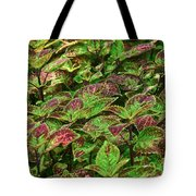 Green And Purple In Nature Tote Bag