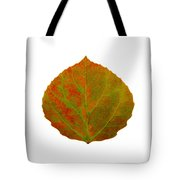 Green And Red Aspen Leaf 5 Tote Bag