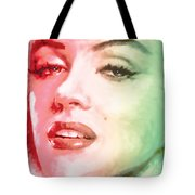 Green And Red Beauty Tote Bag