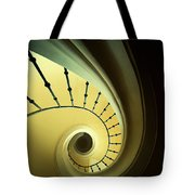 Green And Yellow Spirals Tote Bag