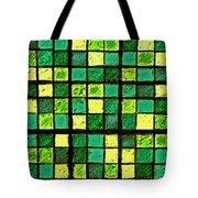 Green And Yellow Sudoku Tote Bag