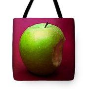 Green Apple Nibbled 1 Tote Bag