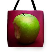 Green Apple Nibbled 2 Tote Bag