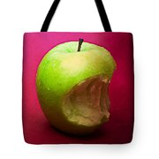 Green Apple Nibbled 3 Tote Bag