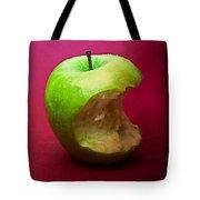 Green Apple Nibbled 5 Tote Bag
