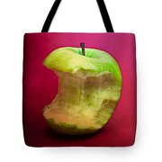 Green Apple Nibbled 8 Tote Bag