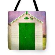 Green Beach Hut Tote Bag