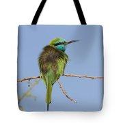 Green Bee-eater Merops Orientalis Tote Bag