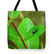Green Beetle Foraging Tote Bag
