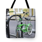 Green Bike Tote Bag