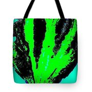 Green Blue Plant Abstract Tote Bag